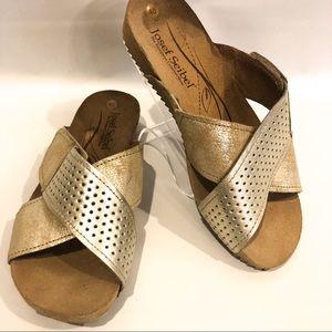 Josef Seibel slip on womens sandals size 10
